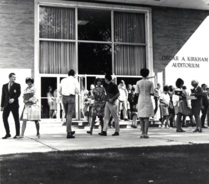 Students Outside the Kirkham