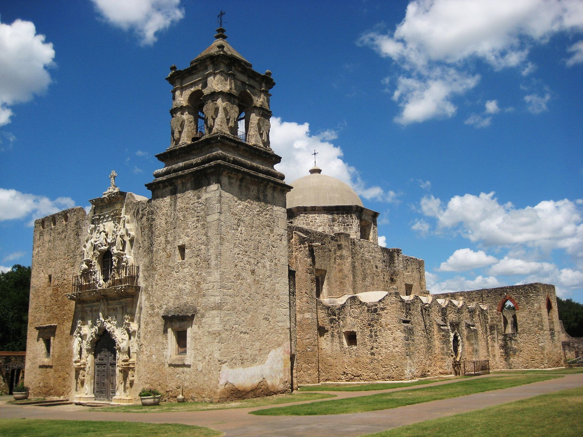 Built in 1755, Mission Concepción is the country's oldest unrestored church. It took 20 years to complete.