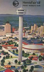 HemisFair postcard featuring Tower of the Americas