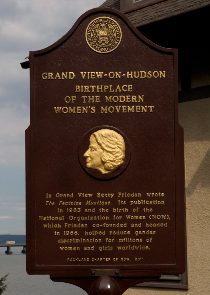 This marker commemorating Betty Friedan was dedicated in 2011.