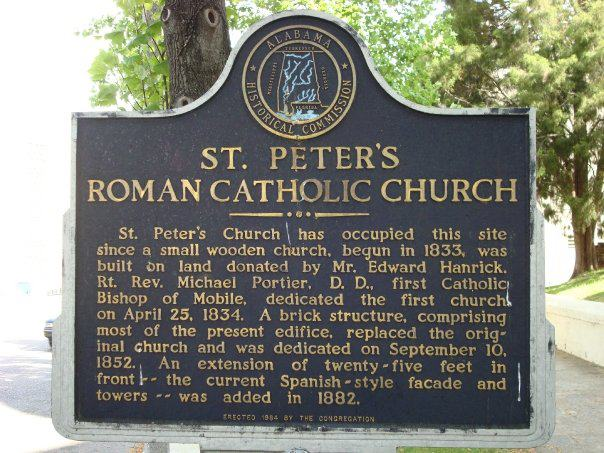 State Historical Society Plaque, St. Peter Church, Montgomery, AL.