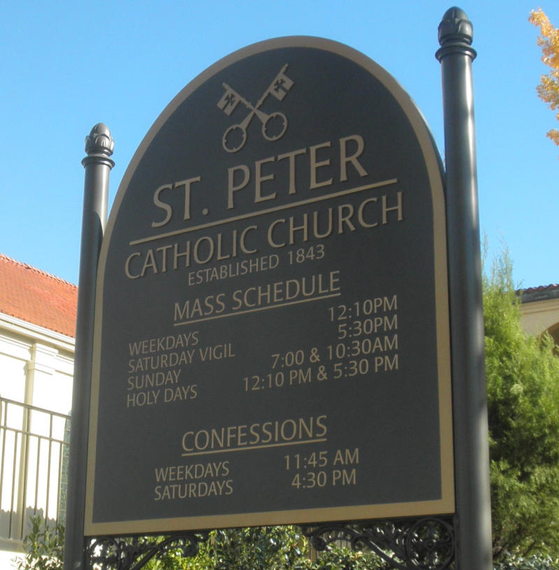 Exterior Sign, St. Peter Church, Montgomery, AL.