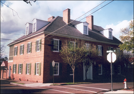 The building in Natchez that was used for the early state legislature meetings.