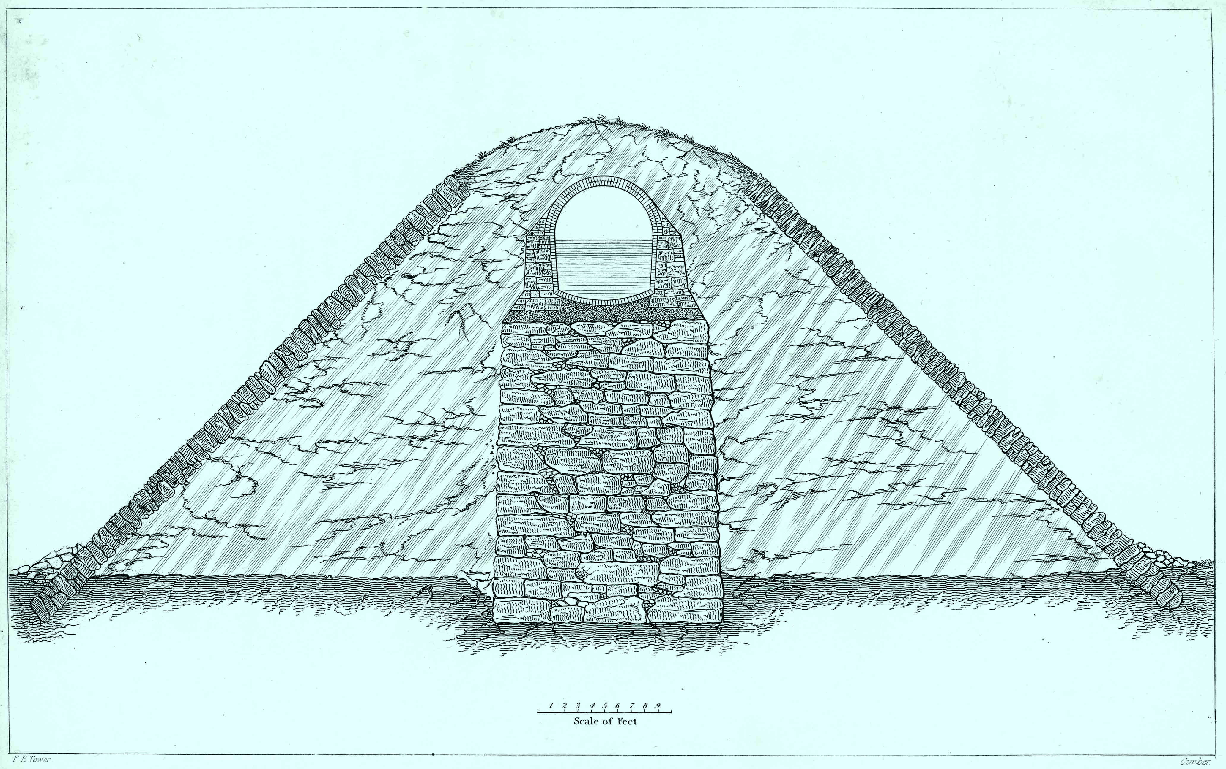 Typical cross-section of the Old Croton Aqueduct.