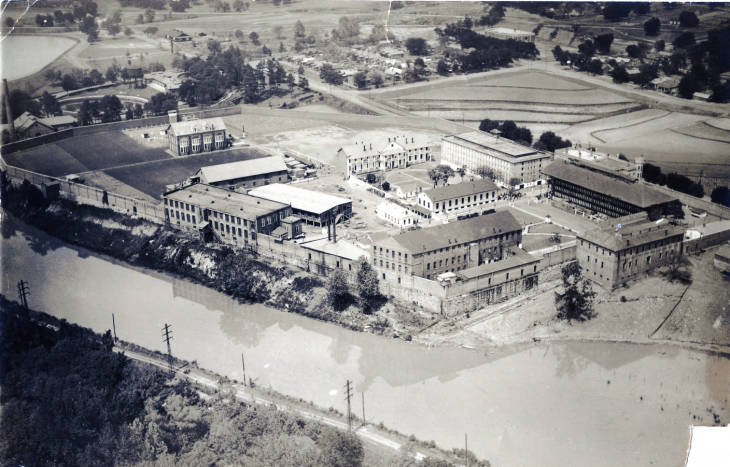 1932 aerial view of the South Carolina State Penitentiary, demolished in 1999