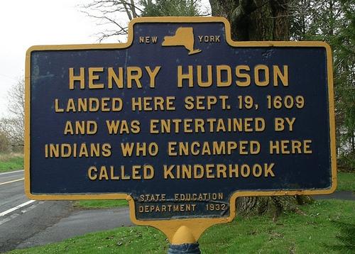 Henry Hudson historical marker