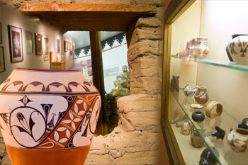 The museum includes many displays of Pueblo artwork