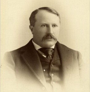 I. C. White, president of the Morgantown Brick Company. White served as assistant geologist the US Geological Survey, and surveyed PA, WV and OH and their vast mineral resources. He was appointed West Virginia's first State Geologist. Wikimedia.