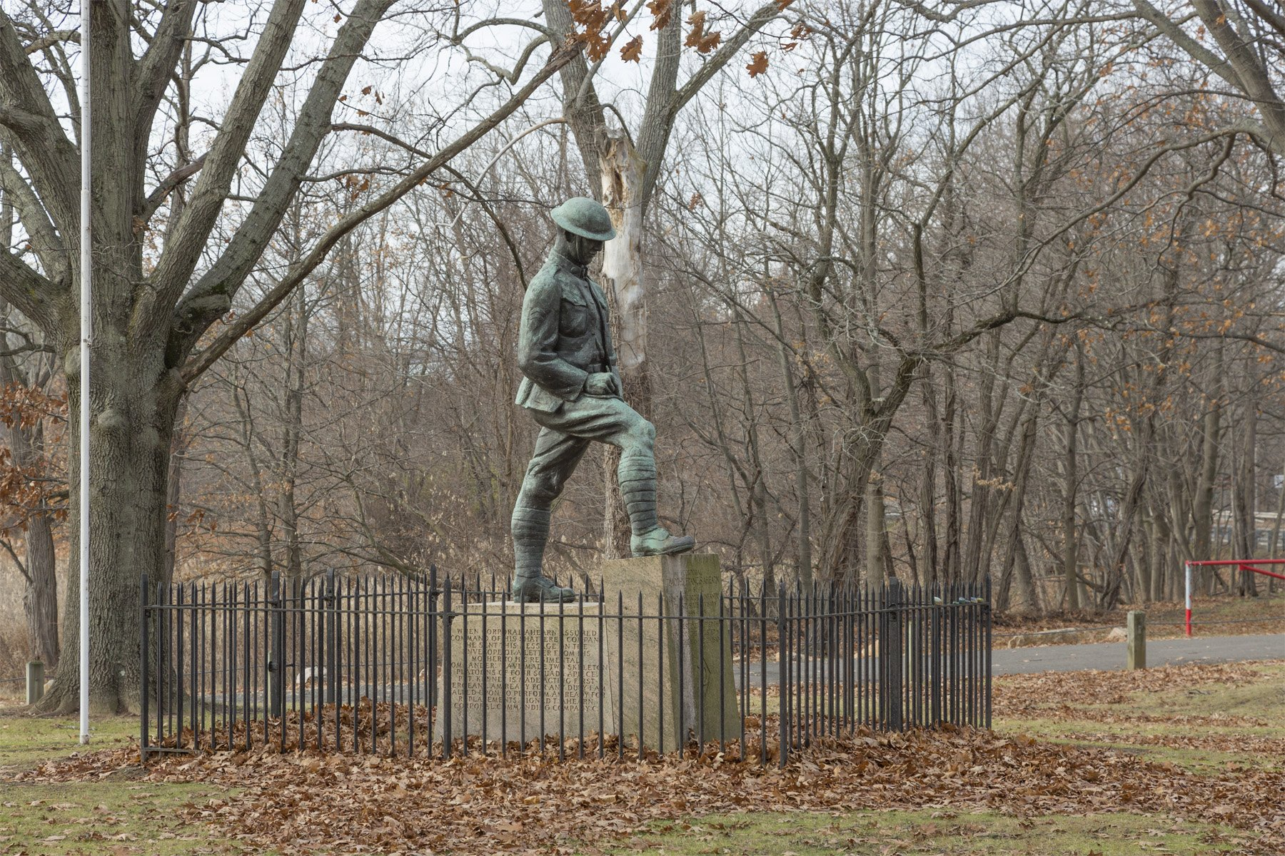 Timothy Ahearn Memorial, West River Memorial Park, New Haven, Connecticut. Photograph by William Sacco, 2016.