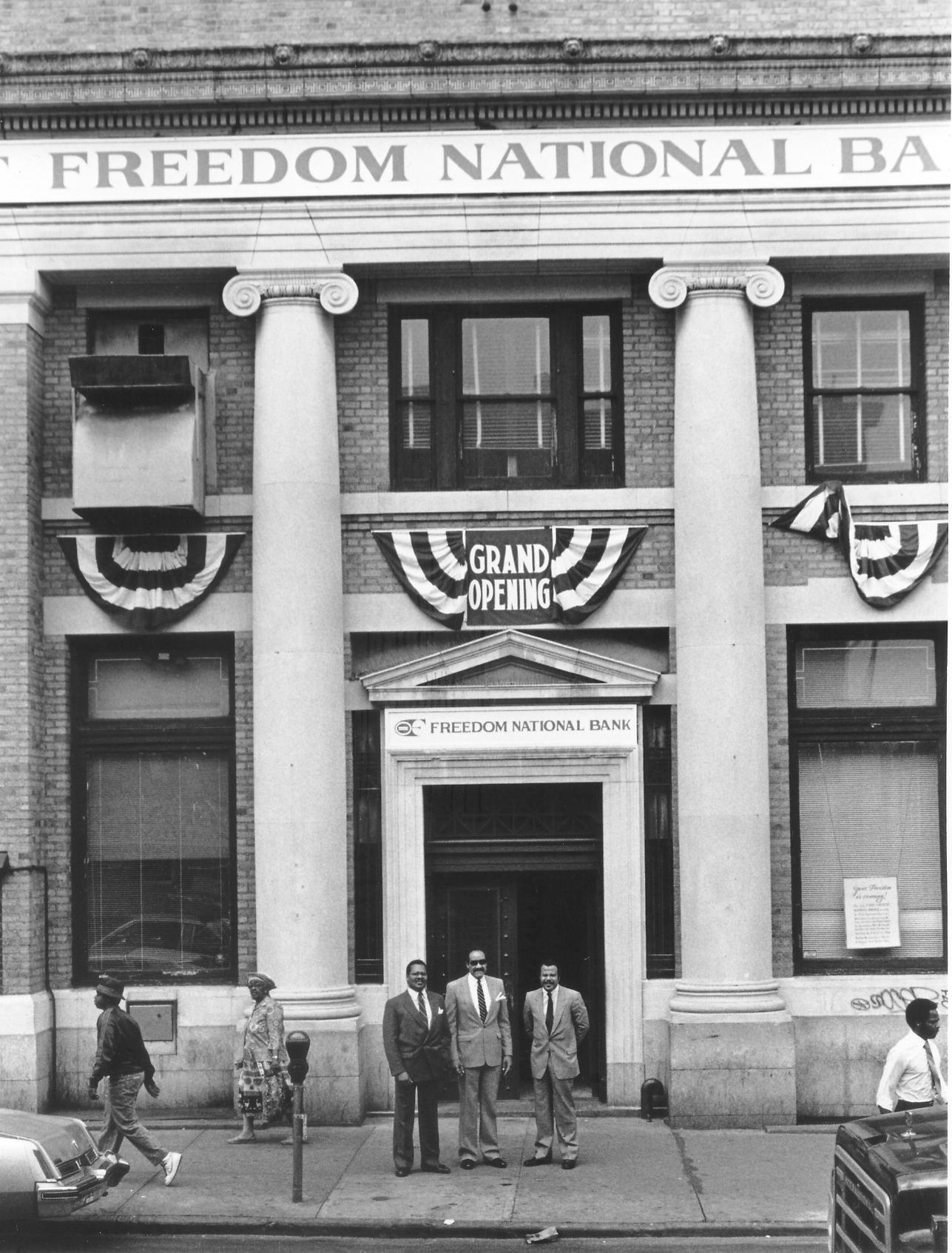 Freedom National Bank. Jackie established this bank in 1964.