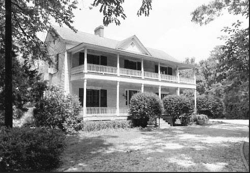 Photograph of front of Woodlands house, NRHP nomination