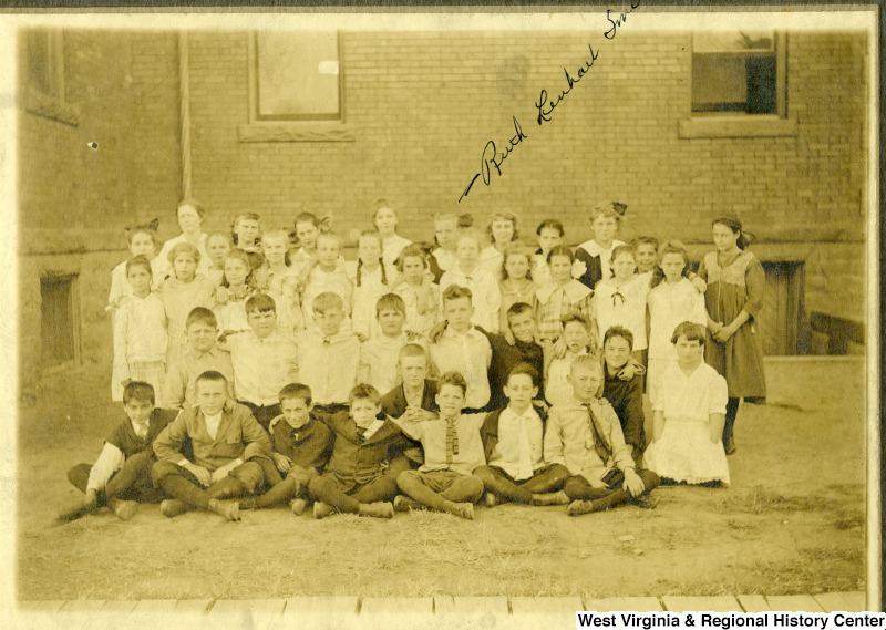 A class portrait of students at Seneca Elementary School. Photo courtesy of West Virginia and Regional History Center, WVU Libraries.