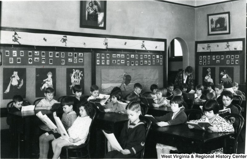 A possible image of a Seneca Elementary School classroom from the early twentieth century. Photo courtesy of West Virginia and Regional History Center, WVU Libraries.