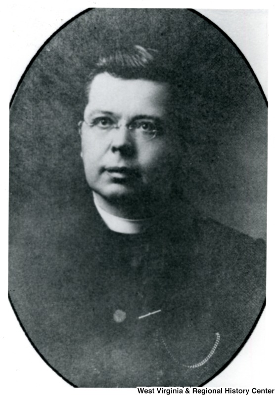 Portrait of Father Kluser. West Virginia and Regional History Center, WVU Libraries.