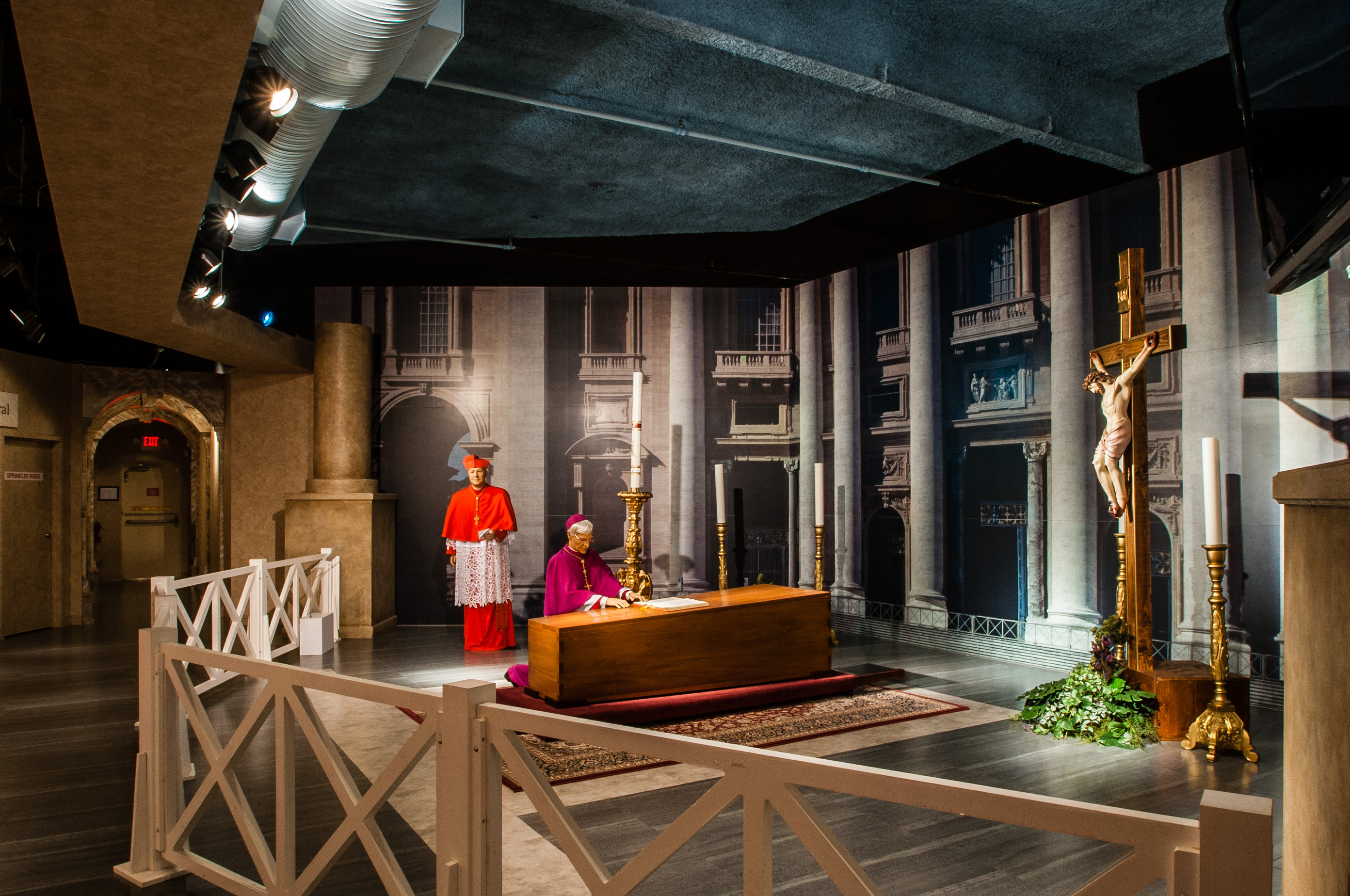 "The most popular exhibit in the museum is ""Celebrating the Lives and Deaths of Popes,"" a look at the rituals and rites for a papal funeral. Image courtesy of the National Museum of Funeral History."
