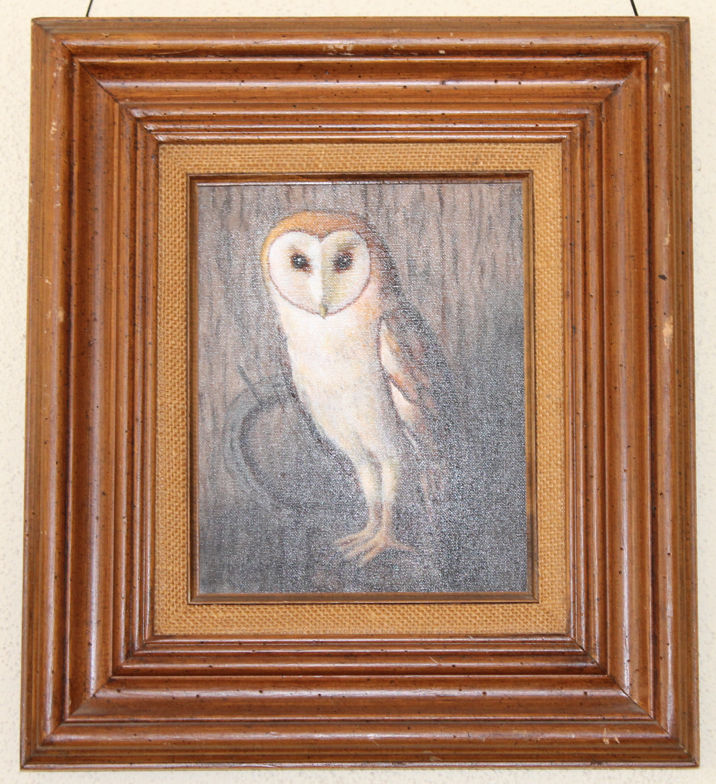 "Lawrence Hinckley painting, ""The Owl"""