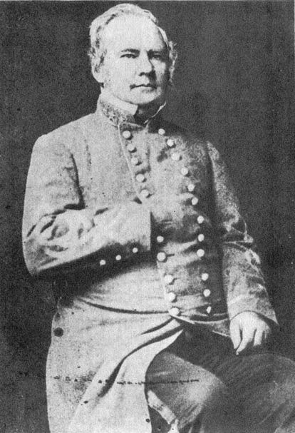 Confederate General Sterling Price. Though suspected of having split loyalties before the war by fellow secessionists, he later became a Southern icon for fleeing to Mexico rather than surrender to Union officials.