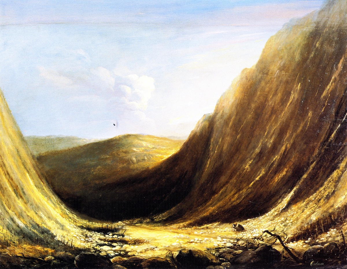 Codman painting of the site of the Willey Slide