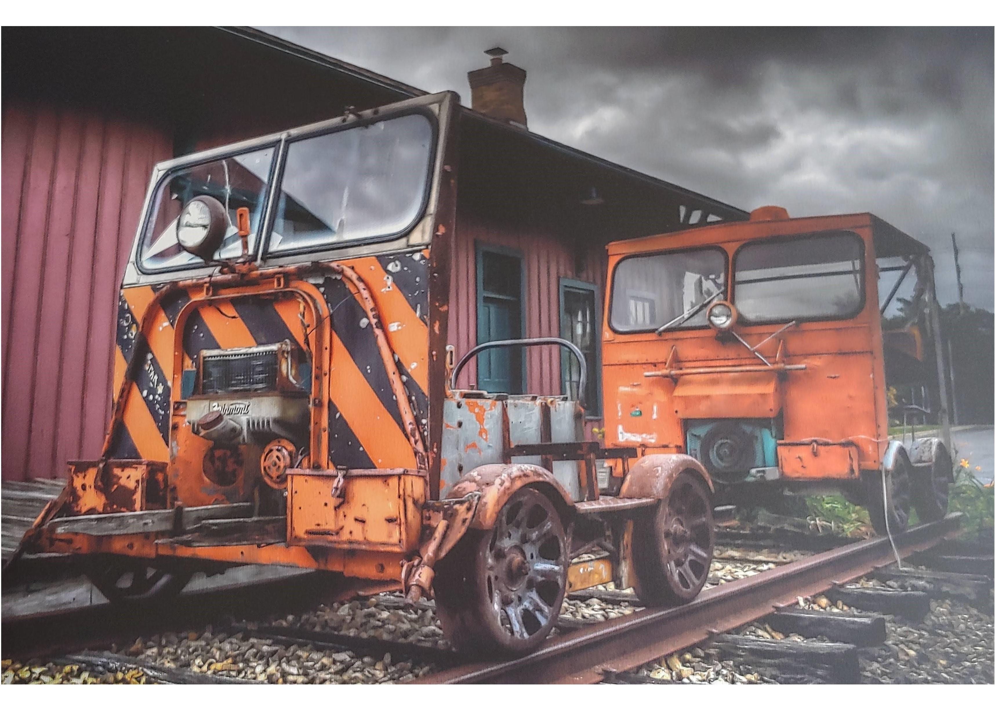 Railroad track vehicle display at MLSP