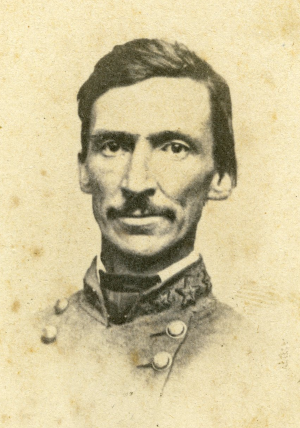 Confederate General M. Jeff Thompson's brigade was one of the few combat-effective units in Price's army after the battle earlier in the day at Mine Creek. His would be one of the last units to withdraw and follow in the retreat.