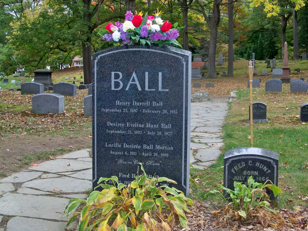Back of Lucille Ball's grave