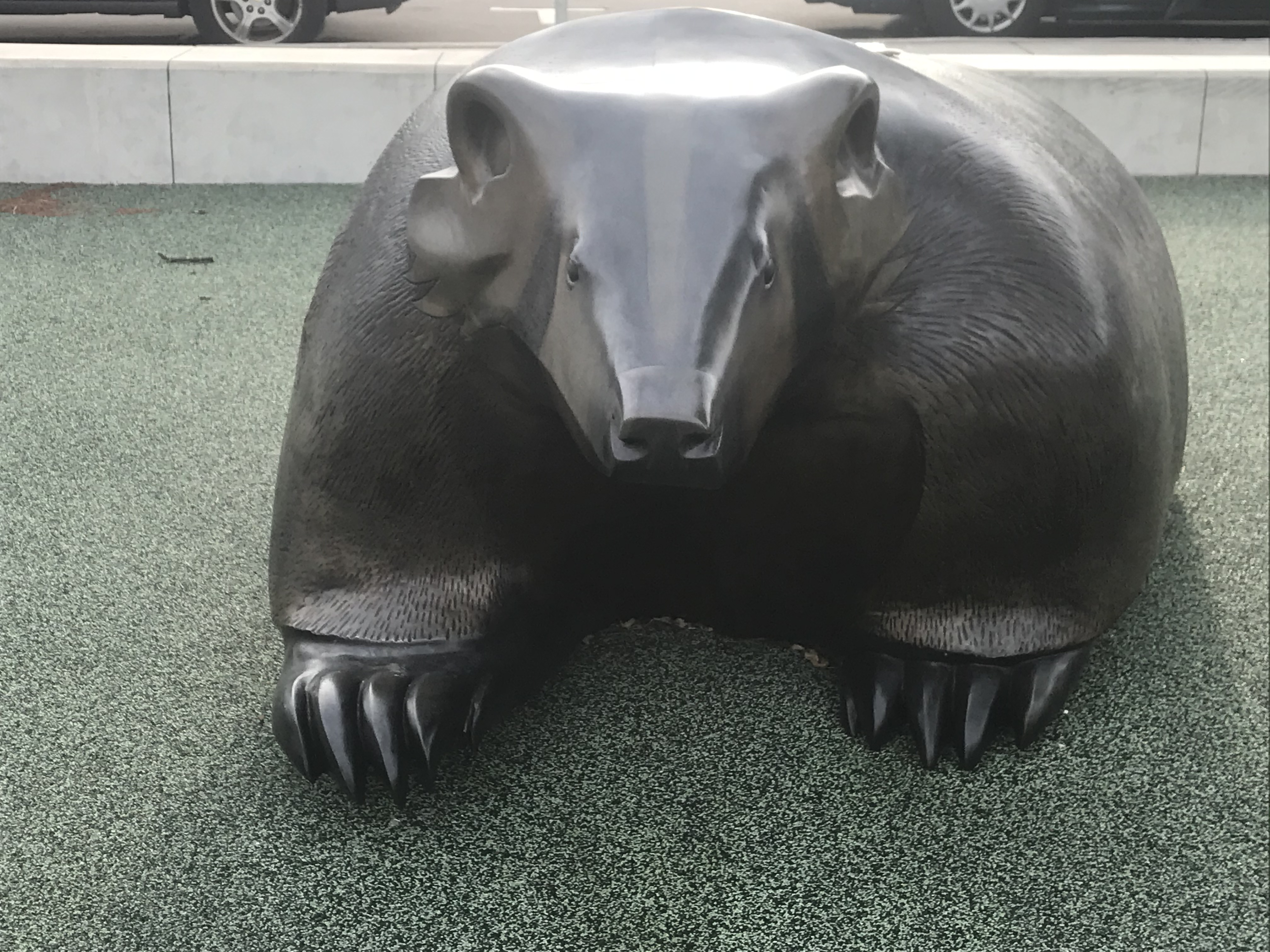 Bronze Badger Statue by Ho-Chunk Artist Harry Whitehorse