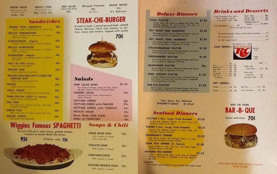 Wiggins menu