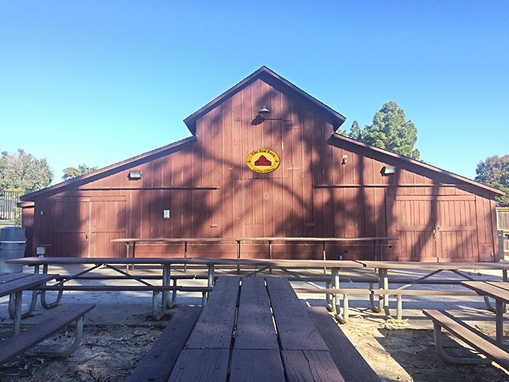 The Red Barn from the picnic area