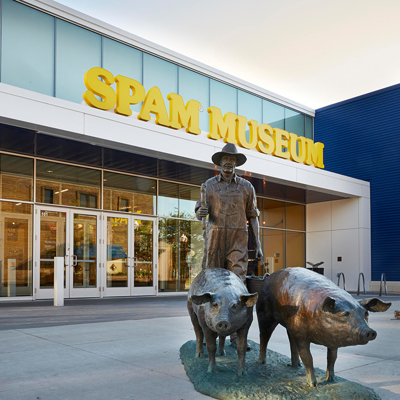 First opening in 1991, the Spam Museum moved to its current location in downtown Austin in 2016. Image obtained from spam.com.