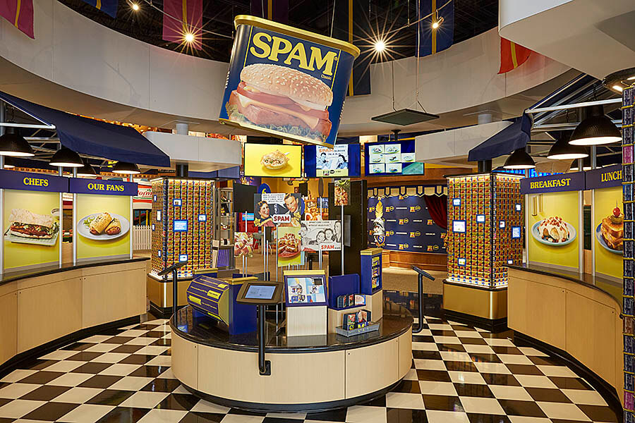 The Spam Museum boasts 14,000 square-feet of displays and interactive exhibits. Image obtained from hormelfoods.com.