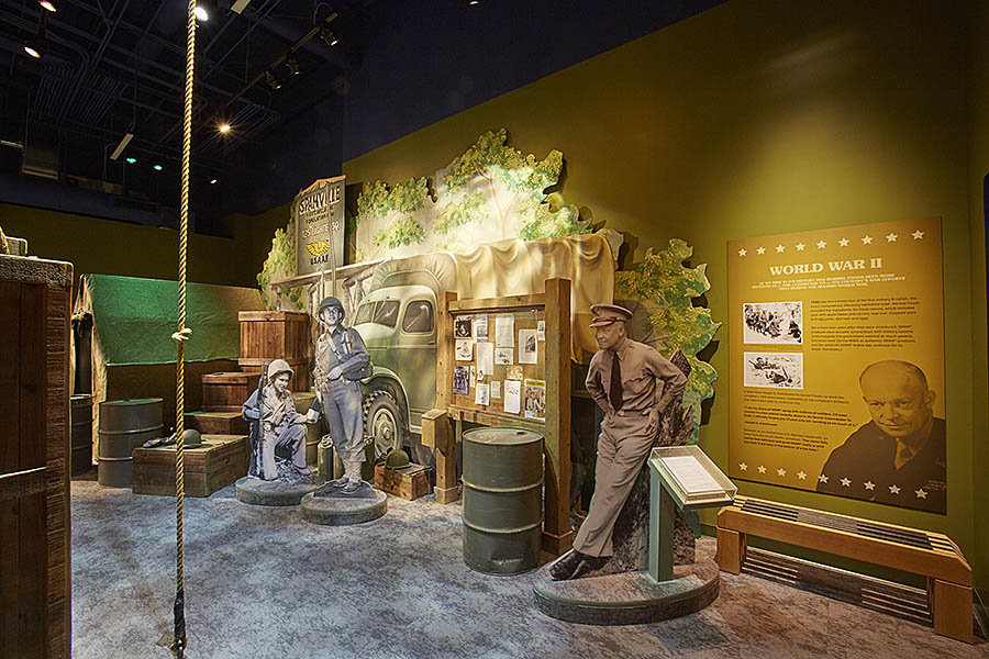 Part of the museum explains Spam's role in feeding millions of Allied troops during World War II. Image obtained from hormelfoods.com.