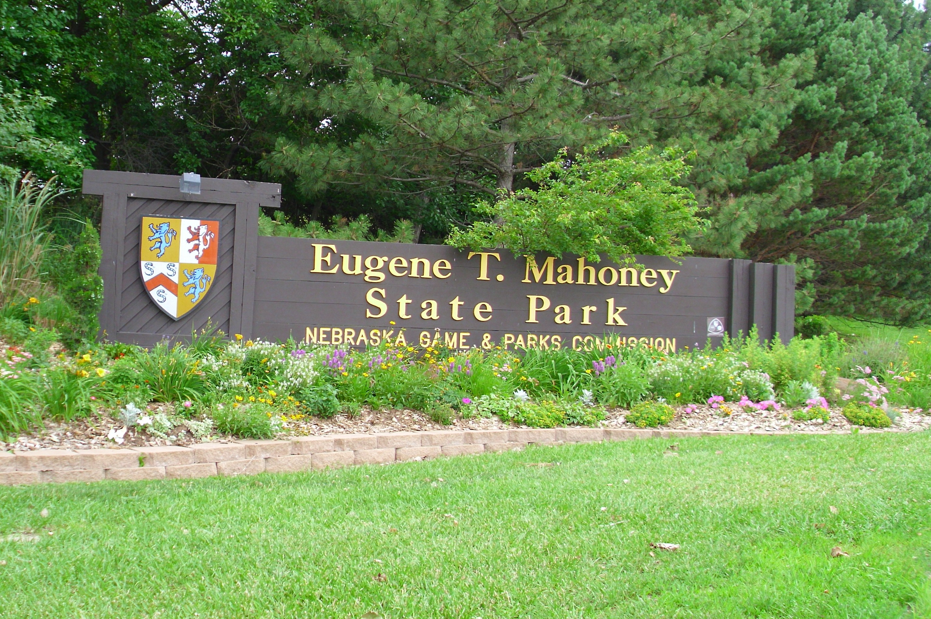 The front sign of the park