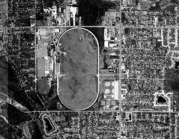 Aerial photo of the Proving Grounds