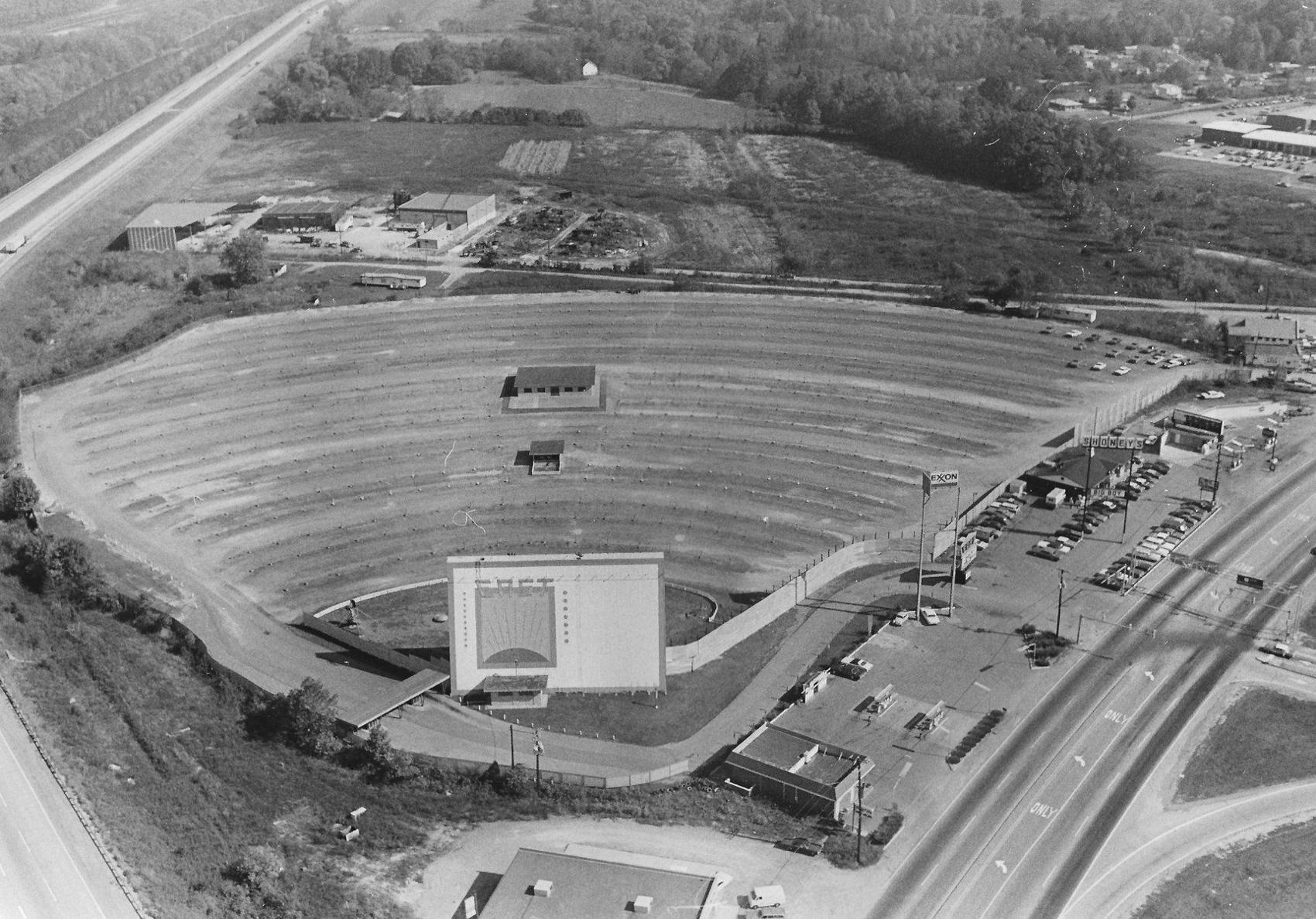 Aerial view of the East Drive-In Theater