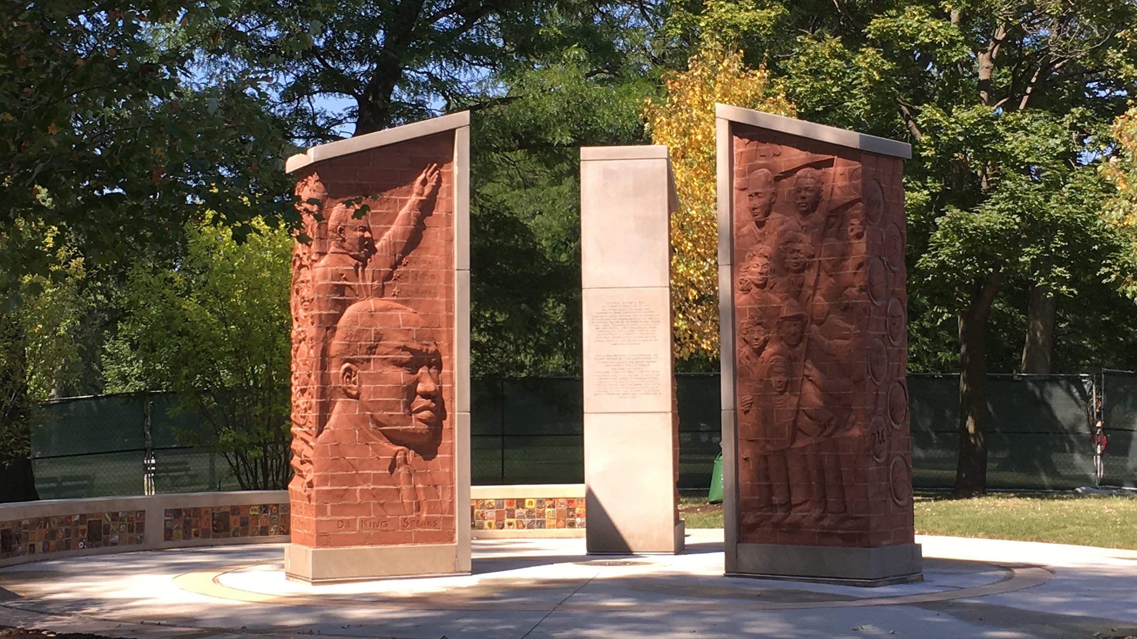 This monument was made possible by a coalition of  forty Chicago organizations led by the Inner-City Muslim Action Network