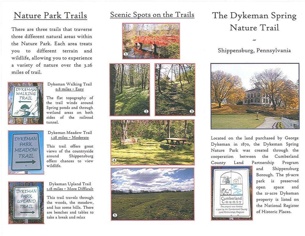 A short brochure describes the park's amenities.