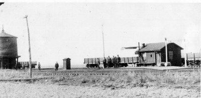 Original station at Edmond, 1887 (image from Edmond Historical Society & Museum)