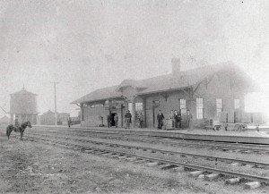 Edmond Depot, 1890 (image from Edmond Historical Society & Museum)