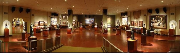 Art gallery (image from the Woolaroc Museum and Wildlife Preserve)