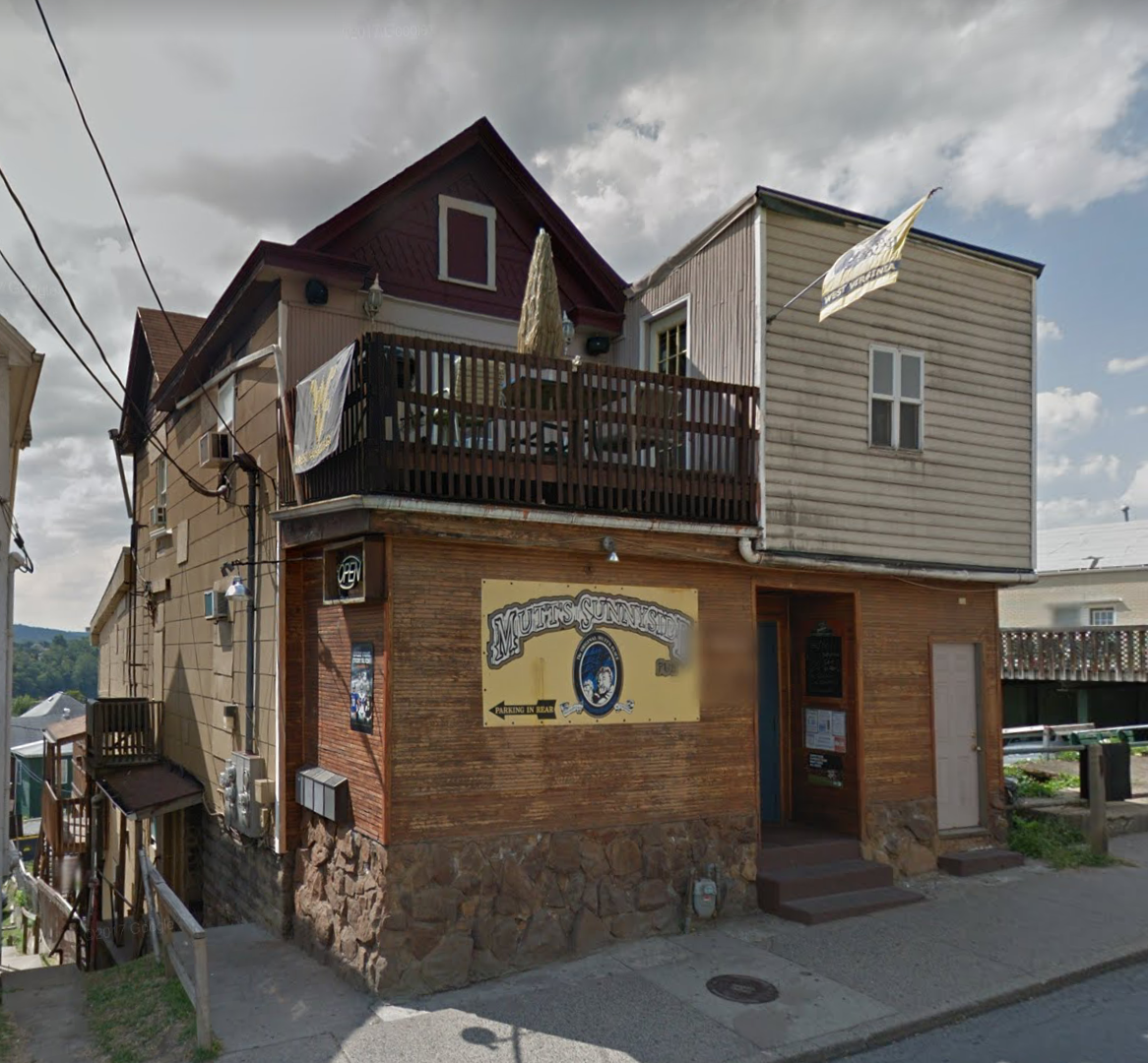 The second location of Mutt's Sunnyside Place was demolished in 2013 to make way for University Place, a multiuse apartment complex within walking distance of WVU's Downtown campus. Google Street View.
