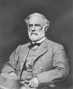 Robert E Lee, age 63.  It is said that Lee's hair turned gray as a result of the Civil War.