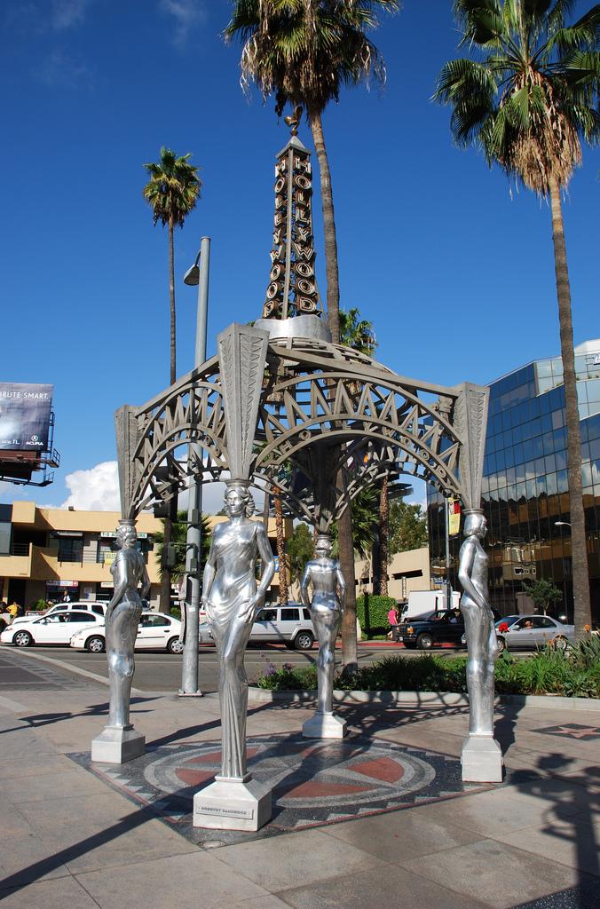 The Hollywood and La Brea Gateway gazebo (photo by Floyd B. Bariscale)