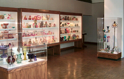Display cases in the Glass Gallery