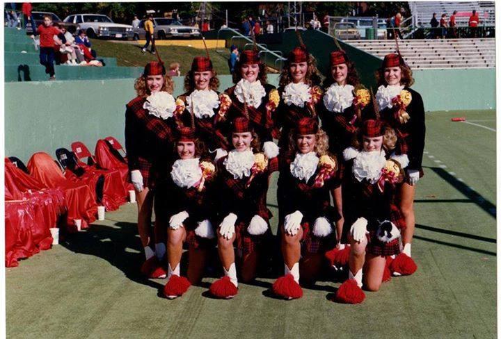 HEHS majorettes, 1986-7