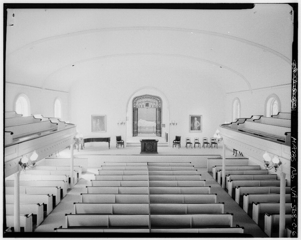 Interior - Looking towards the statue (southeast) from the balcony, Jul 1968