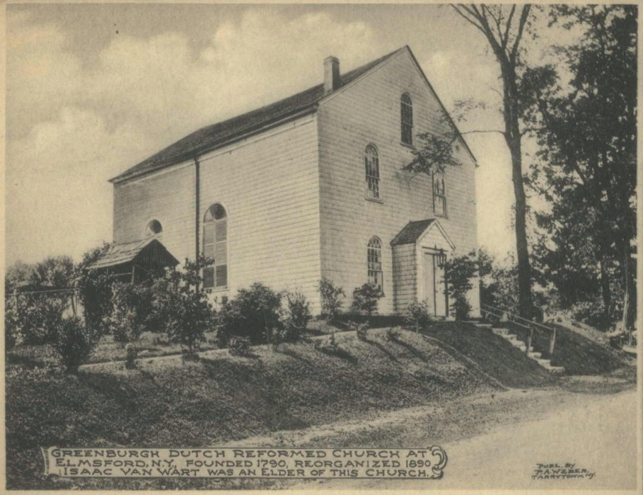 A postcard of the Elmsford Reformed Church from the early 20th century.