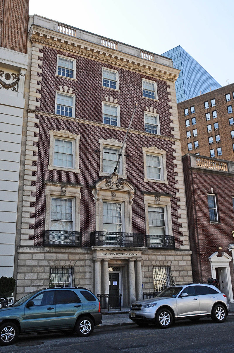 The New Jersey Historical Society was founded in 1845 and is located the historic forme Essex Club.
