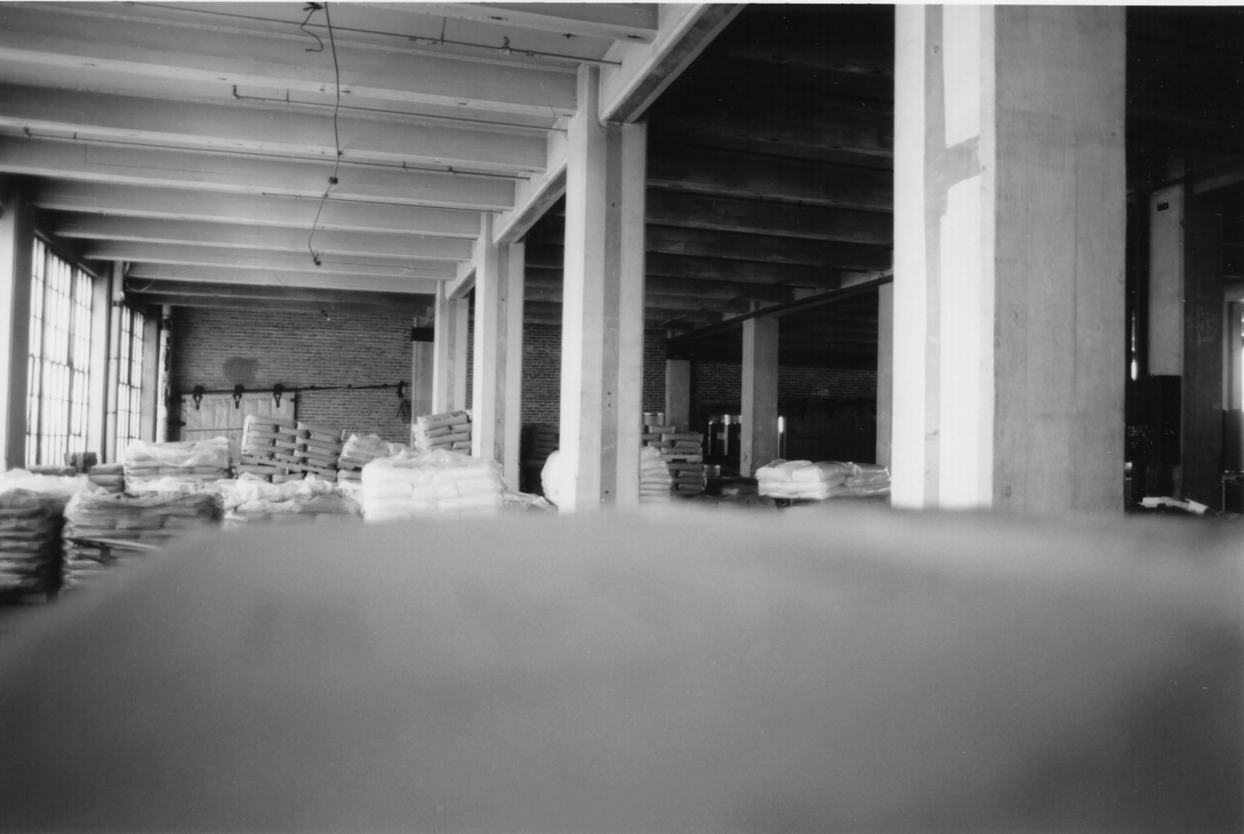 Inside the former factory in 1998