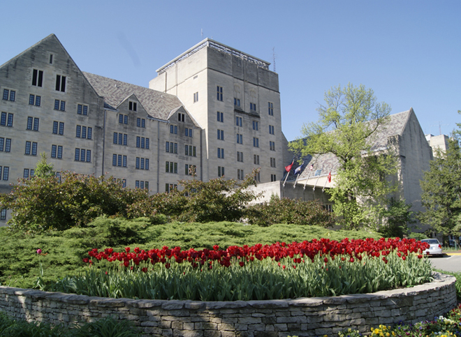 The Biddle Hotel and Conference Center was an addition to the IMU made in 1960 to allow visitors to experience 'Hoosier Hospitality' in the heart of Bloomington and IU campus.