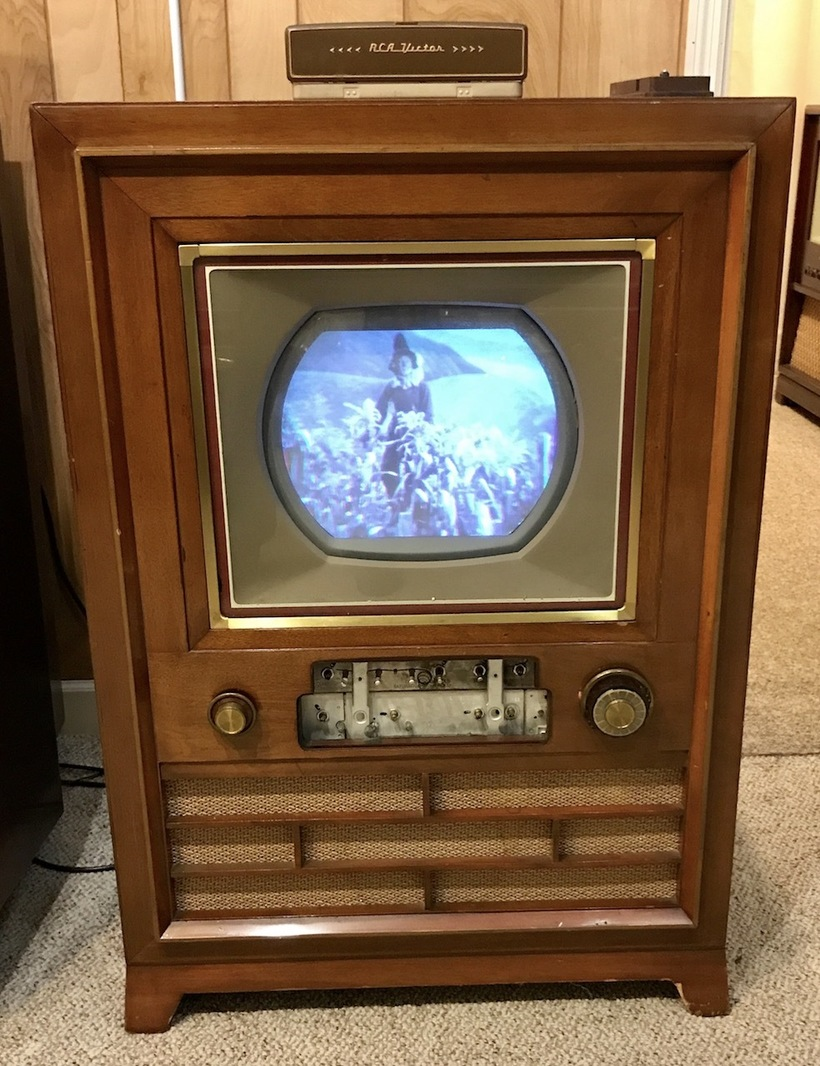 The museum has restored many televisions back to operating condition, including this 1954 RCA CT-100 set. Image obtained from Huffington Post.